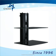 two-layer floating tv wall mount with DVD bracket