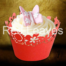 Laser Cut Christmas Cake Wrapper /Lace Cupcake Wrapper