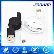 strongly practically micro usb male retractable cable for cell phone