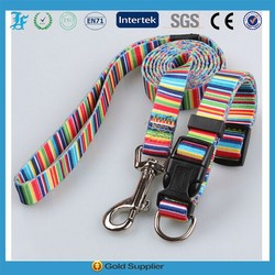 2015 heat transfer printing dog collars and leashes pet dog products