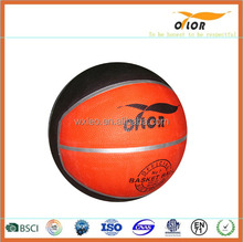 standard size and weight indoor Outdoor hot sale rubber basketball