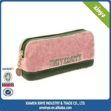 Promotional Custom Gift wool felt Zipper Pencil Bags pencil cases