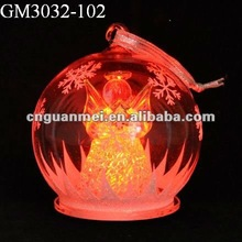 2015 new style best selling christmas led glass ball with angel inside