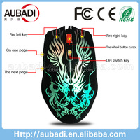 Hotsale colorful cute low cost 3D wired pc games optical mouse
