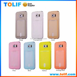 Factory price TPU phone case for Samsung S5 S6 iphone 6/5s Plastic back cover card holder G360 E7 E5 G530