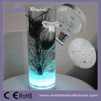 6 inch RGB LED under vase table centerpiece base light for table decoration