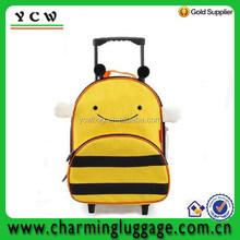 Cute cartoon kids trolley school bag backpack luggage