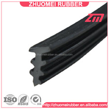 custom shape extruded profiled, rubber roof insert seal