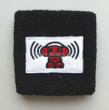 Terry sport cotton wristband with patch LOGO or embroidered LOGO