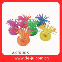 "2"" Duck Animal Long Hair Lovely Spiky Rubber Ball"
