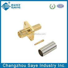 sma female flange crimp connector, rg174 cable