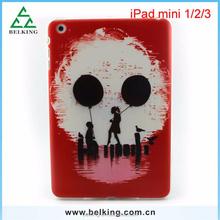 Hot selling skull tablet Printed TPU soft case for ipad mini 1 2 3 , for ipad mini 1 2 3 TPU back cover