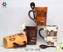 Eco-friendly ceramic mug with decal printing stoneware coffee mug