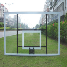 Glued Constructed Tempered Glass Basketball Backboard