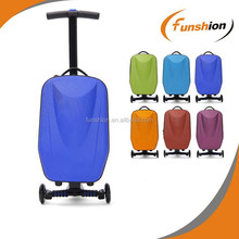 Aluminum scooter suitcase, traveling bag scotter with EVA/PC material