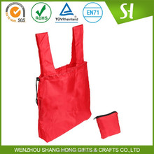 Recycled polyester bag/folding shopping bag/foldable polyester bag