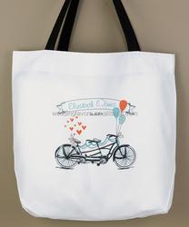 Tandem Bike Personalized Tote Bag