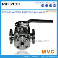 High quality carbon steel and stainless steel multi direction actuated or manual 3-way ball valve