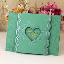 OEM promotional teal purple wedding cards