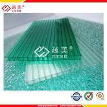 Transparent polycarbonate patio roof panels