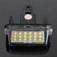 Error Free 2pcs 12V 18 LED 6000k License Number Plate Lights Lamp for Toyota/Camry/Yaris/Ford/Hybrid