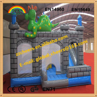 indoor and outdoor inflatable bounce house with little dinosaur
