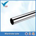 dia25mm cromo ronda de tubos de acero para closet