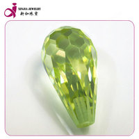 Quality zirconium Green Yollowish, water droplets form gem cutting ,Company products sell like hot cakes