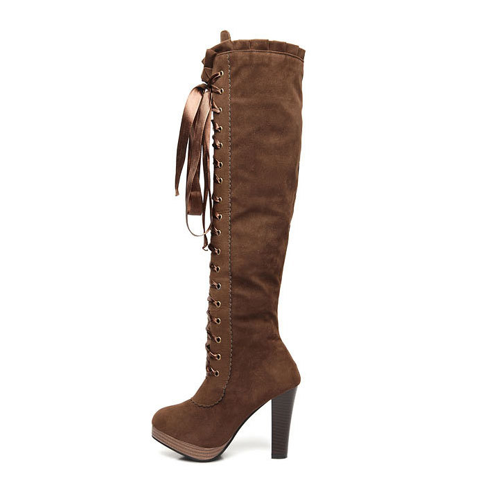 high heel lace up thigh high boots buy high heel lace up