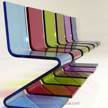The most popular colored plastic chairs, plexiglass chair
