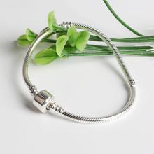 SB002 925 Sterling Silver Original 3mm Snake Chain Bracelet European Style S925 Bracelets For Men Women DIY