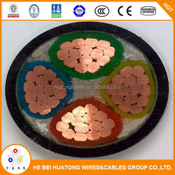 CE certified low voltage power cable 240 185 150 120 mm2 PVC cable