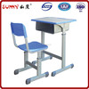 Compact and adjustable design wood desktop desk and chair