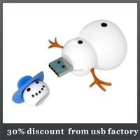 promotional 8GB snowman shape pvc usb 2.0 flash disk