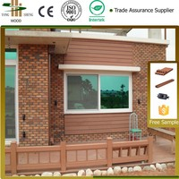 Waterproof and anticorrosion Wood Grain WPC wood plastic composite wall panel