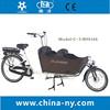 2015 hot sale two wheel 26 inch Electric Cargo Bike/bakfiets/cargobike model UB9016E Nexus 7 speeds
