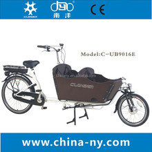 2015 hot sale two wheel 26 inch Electric Cargo Bike/bakfiets/cargobike model UB9016E Nexus 7 speeds
