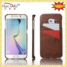 Mobile Phone Accessory For S6 EDGE Wholesale mobile back case over with card slots for Samsung Galaxy S6 EDGE G925
