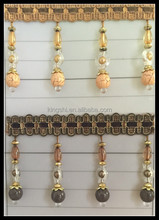 Fancy Wholesale Acrylic beaded curtain fringing trimming for curtain accessories