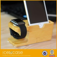 100%natural wooden dock charging station compatible for apple watch