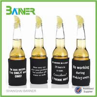 Cheapest logo printed Promotional neoprene beer bottle cooler holder