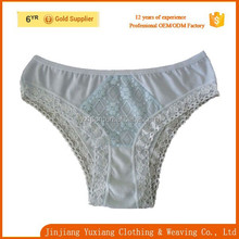 2015 sexy panty single piece 100%cotton women mature lace underwear/underwear lace for women