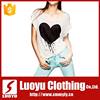 white tshirts with sexy pattern for women