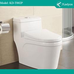 Ceramics one piece toilet bowl, 300/400mm european wc toilet