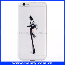 High quality skull desigh slim hard plastic case for apple iphone 6 case