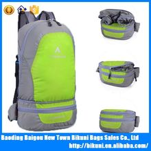 Outdoor hiking and camping mountain waterproof ripstop nylon lightweight foldable backpack
