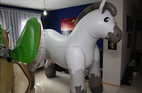 Hot sale custom white giant inflatable horse for advertising promotion
