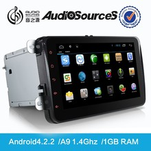 car dvd for vw android 4.4.2 car multimedia system with bluetooth phonebook OPS IPAS door cue 3G TV