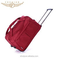 New Durable Polyester Woman Travel Trolly Bag