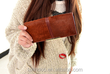 2015 hot sale new Women's brand Genuine Leather wallet trifold card money long purse hot